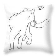 Cat-drawings-black-white-2 Throw Pillow