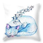 Cat Dreams Throw Pillow