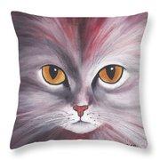 Cat Eyes Red Throw Pillow