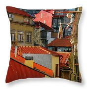 Cat Feed Throw Pillow by Skip Hunt