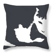 Cat In Black And White Throw Pillow