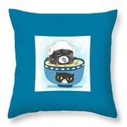 Cat In Food Throw Pillow