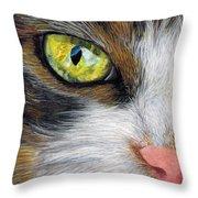 Cat In Pastel Throw Pillow