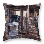 Cat In The Barn Throw Pillow