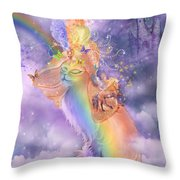 Cat In The Dreaming Hat Throw Pillow