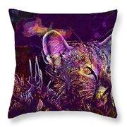 Cat Kitten Mieze Tiger Cat  Throw Pillow