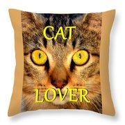 Cat Lover Spca Throw Pillow