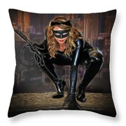 Cat On The Prowl Throw Pillow