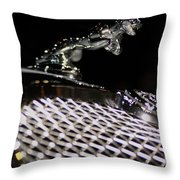 Cat Over The Grille Throw Pillow