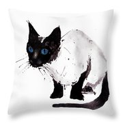 Cat Painting Throw Pillow