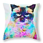Cat Picture Throw Pillow