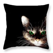Cat Shadow Throw Pillow