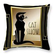 Cat Show - Frame 5 Throw Pillow