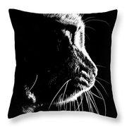 Cat Silhoette Throw Pillow