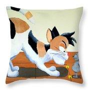 Cat Trap Throw Pillow