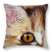 Cat Visions Throw Pillow