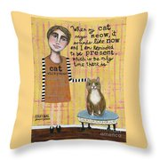 Cat Whisperer Throw Pillow
