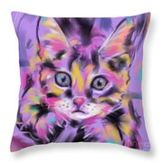 Cat Wild Thing Throw Pillow by Go Van Kampen