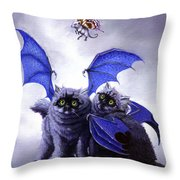 Catabat Snack Throw Pillow