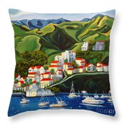 Catalina Island 2 Throw Pillow by Milagros Palmieri