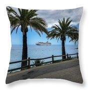 Catalina Palms Throw Pillow