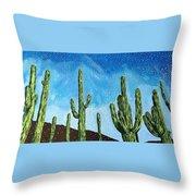 Catalina State Park Throw Pillow