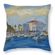 Catallina Casino Throw Pillow