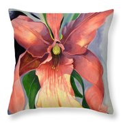 Catalya Orchid Throw Pillow