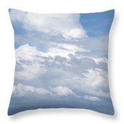 Catamaran Beach Clouds Throw Pillow