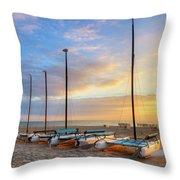 Catamarans In The Sun Throw Pillow