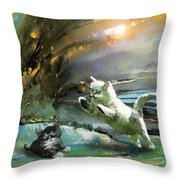Catapult Of Love Throw Pillow