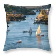 Cataracts Of The Nile Throw Pillow
