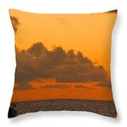 Catarman At Sunset Throw Pillow