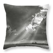Catboats Sailing In Barnstable Harbor Throw Pillow