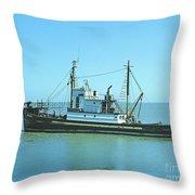 Catch Boat Allen Cody For Del Monte Fishing Co. Taken On July 5  Throw Pillow
