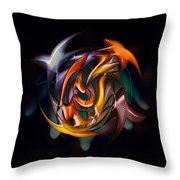 Catch Of The Day In Hand Throw Pillow