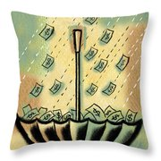 Catch The Cash Throw Pillow