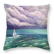 Tell The Storm Throw Pillow