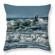 Catching A Wave Throw Pillow