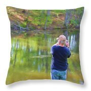 Catching Fish Throw Pillow