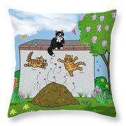 Tabby Cats Falling Throw Pillow