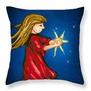 Catching Moonbeams Throw Pillow