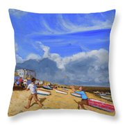 Catching The Ball, St Ives Throw Pillow