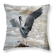 Catching The River Breeze Throw Pillow