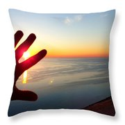 Catching The Sunset At Sleeping Bear Throw Pillow