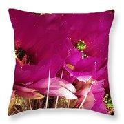 Catcus Flower Throw Pillow