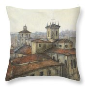 Catedral De Santander Throw Pillow