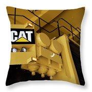 Caterpillar 797f Mining Truck 02 Throw Pillow