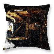 Caterpillar 797f Mining Truck Pa  Throw Pillow