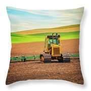 Caterpillar And The Earth Throw Pillow